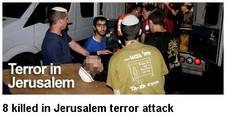 Terrorns 8 döda i Jerusalem
