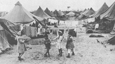 Tältläger i Israel för judiska flyktingar från muslimska länder.