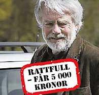 Bild från Aftonbladets artikel om Palestinagruppernas ordförande Per Gahrton