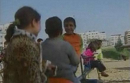 Barnen i Gaza kunde gå ut och leka