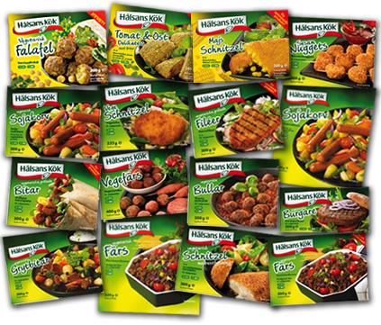 Vegetariska produkter från Israel och Tjeckien