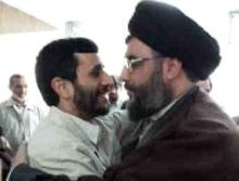 """""""Apshejken"""" Nasrallah (Hizbollah) och iranske välgöraren Mahmoud Ahmadinejad"""