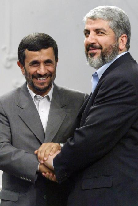 Ahmadinejad och Hamasledaren Mashaal