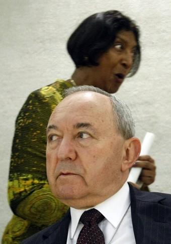 'Människorättsrådets' Navi Pillay och utredaren Richard Goldstone