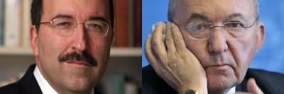 Debatt mellan Dore Gold (v) och Richard Goldstone (h)