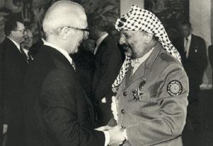 Yassir Arafat hedersgäst på DDR:s 40-årsjubileum (6/10-1989)