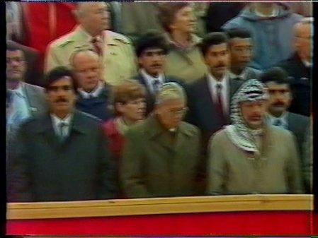 Arafat hedersgäst hos Erich Honecker (6/10 1989)