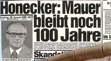 Honecker: Muren kvar i 100 år till