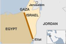 Det planerade stängslet på israelisk-egyptiska gränsen